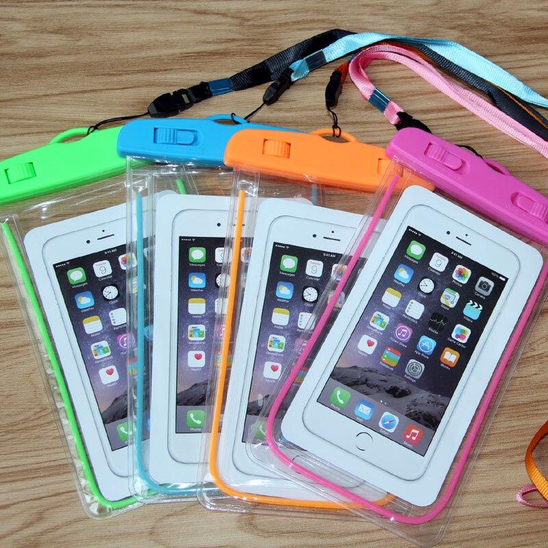 imágenes para 5 unids/lote Selló el Bolso Impermeable Para el iphone 5 6 6 s 7 7 Plus de Samsung Galaxy S6 S7 S8 Borde LG Xiaomi Huawei Teléfono Debajo de 6.0 pulgadas caso