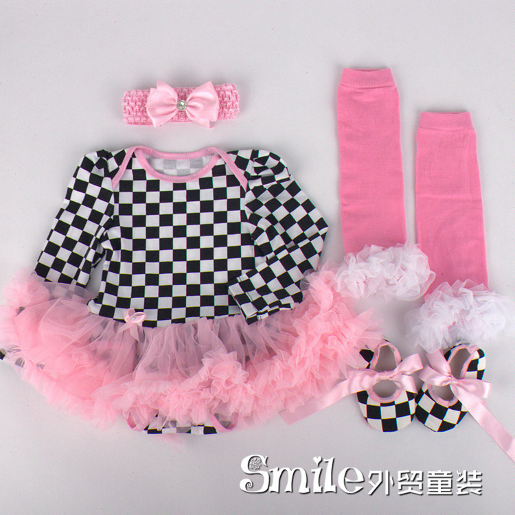 baru lahir bayi summer dress baju tutu bayi perempuan pakaian jumpersuit legging sepatu headband balita berpakaian di dresses dari ibu anak