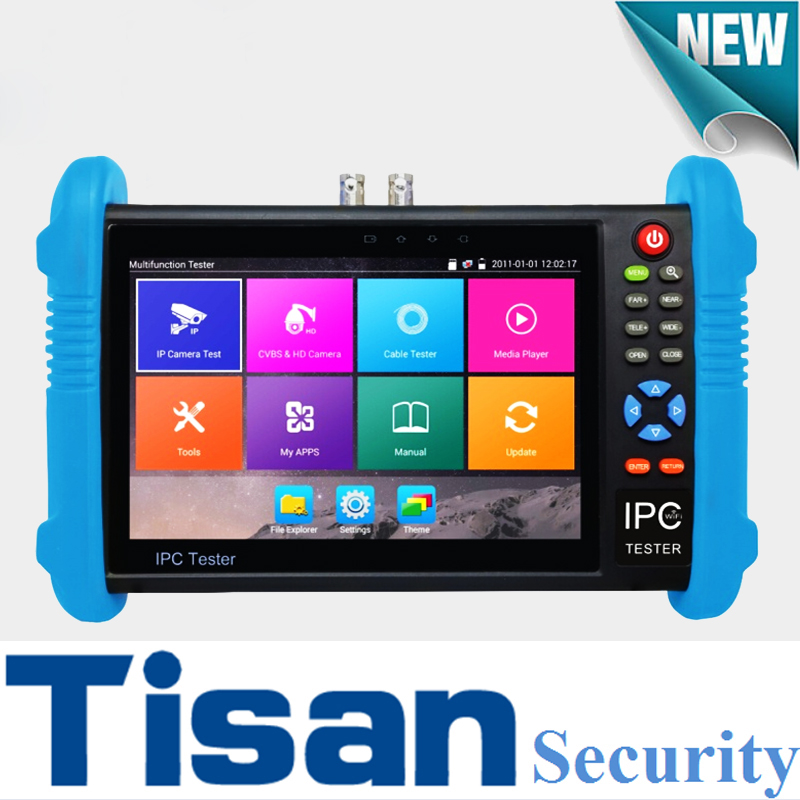 New IP tester H.265 4K IP Camera CCTV Tester monitor Analog camera tester support wifi RJ45 cableSecurity camera