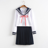 New Arrival Japanese JK Sets School Uniform Girls Skirt Uniformes Autumn High School Women Novelty Sailor Suits Uniforms BLUE