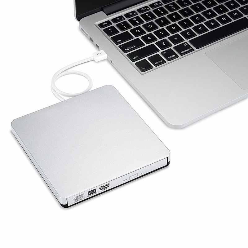 YiYaYo USB 2,0 DVD привод CD rom плеер DVD RW горелка Писатель DVD ram Оптический привод для Apple Macbook Ноутбук hp компьютер Windows