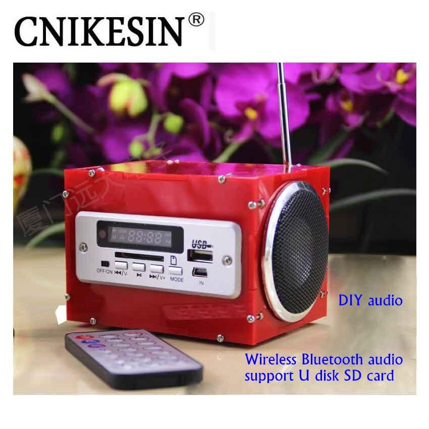CNIKESIN DIY Kits Audio Électronique Suite Amplificateur de Puissance Multi Fonction Sans Fil Bluetooth Stéréo (Pas de batterie)