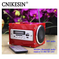 CNIKESIN DIY Kits Audio Electronic Suite Power Amplifier Multi Function Wireless Bluetooth Stereo ( No battery)