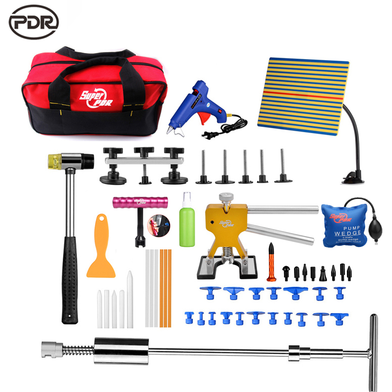 PDR Tools Kit Dent Removal Car Dent Repair Hail Damage Repair Paintless Dent Repair Dent Puller Reflector Board Tool Sets