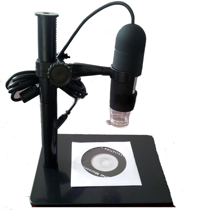 10- 220X USB Digital Microscope Endoscope Otoscope Camera with Adjustable 8 LED 5MP with Lifting Stand Retail box 110mm x 33mm 1 3mp 400x usb camera digital microscope 8 led lights with adjustable measurement software and metal stand