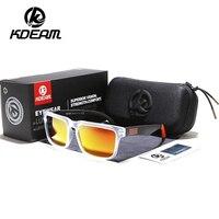 KDEAM бренд дизайн поляризованных солнцезащитных очков Для мужчин водительские очки мужские Винтаж солнцезащитные очки для мужчин с квадрат...