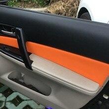 Panel de manija de puerta de coche, cubierta de cuero de microfibra, para Mazda 6, 2006, 2007, 2008, 4 unidades
