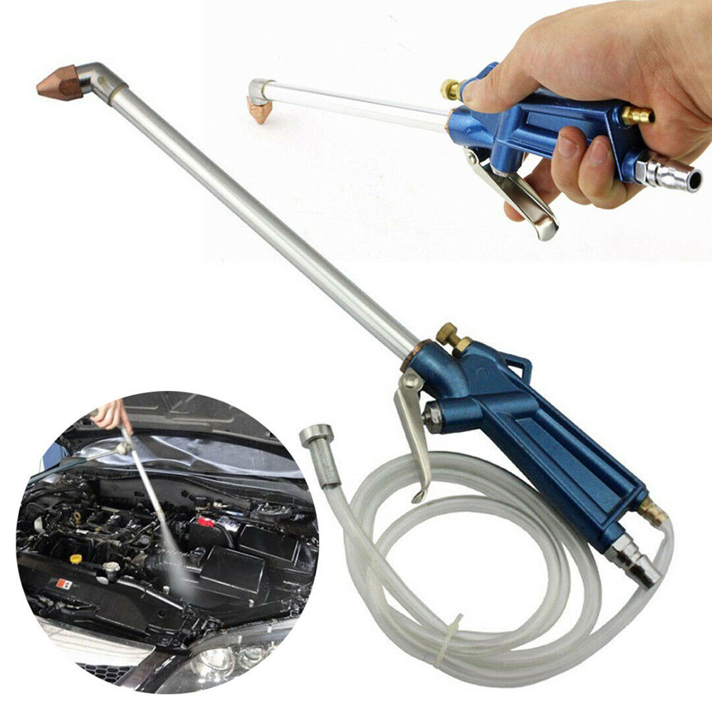 מחשבי וברזי השקיה ניקוי פנאומטי מקצועי 16 אינץ אקדח ריסוס עם 5 * 8mm גמיש צנרת לחץ סוג מתג לשטיפת רכב שמן מנוע Way (1)