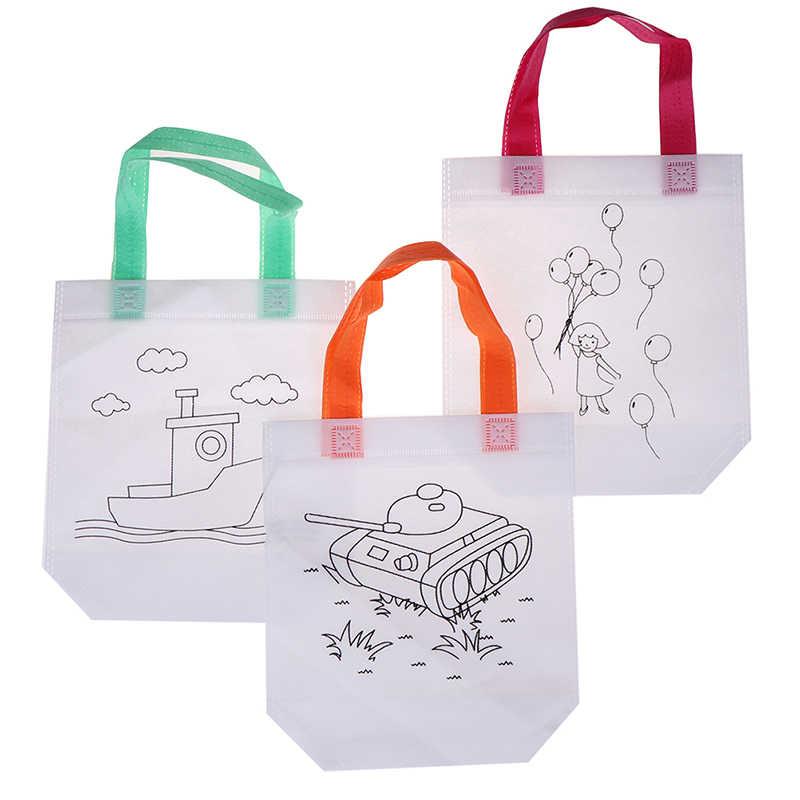 Rompecabezas juguete educativo para niños DIY protección ambiental Graffiti bolsa Kindergarten mano pintura materiales