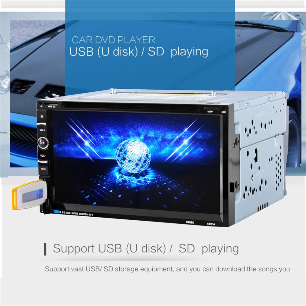 Car Styling Radio Universal 7in Double 2Din 800 * 480 Without GPS DVD Car Audio Car Stereo Auto USB Bluetooth Radio FM 45W*4 NEW 9 inch car headrest dvd player pillow universal digital screen zipper car monitor usb fm tv game ir remote free two headphones
