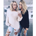 New Winter Women Furry Warm Sweater O-Neck Long Sleeve Ladies Knit Tops Casual Knitted Pullover Female Soft Sweaters VD3004