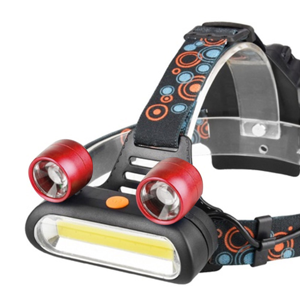 Mini 15000LM LED Headlight 4-Mode USB Rechargeable Headlamp Camping Flashlight Hunting Frontal Head Torch by Battery r3 2led super bright mini headlamp headlight flashlight torch lamp 4 models