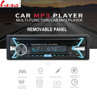 Bluetooth V3 0 Removable Stereo Autoradio Car Radio 12V In Dash 1 Din FM Aux Input