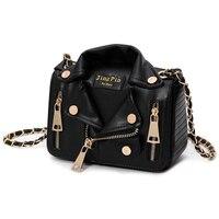 European Hot Brand Designer Motorcycle Bags Women Clothing Shoulder Jacket Bags Messenger Bag Women PU Leather