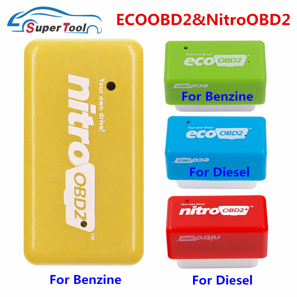 15% Fuel Saver Nitro ECO OBD2 Performance Chip Tuning Box More Power Torque Nitro OBD 2 ECOOBD2 Benzine Diesel Petro Gasoline