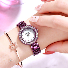 trending products 2019 Korean version of diamond-encrusted fashion watch female waterproof quartz ladies