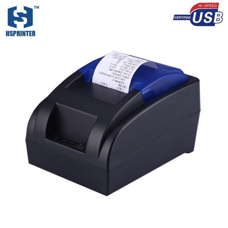 hsprinter Store Pos 58mm thermal receipt printer built-in power supply usb port support win10 for supermarket restaurant stock in Russia quality