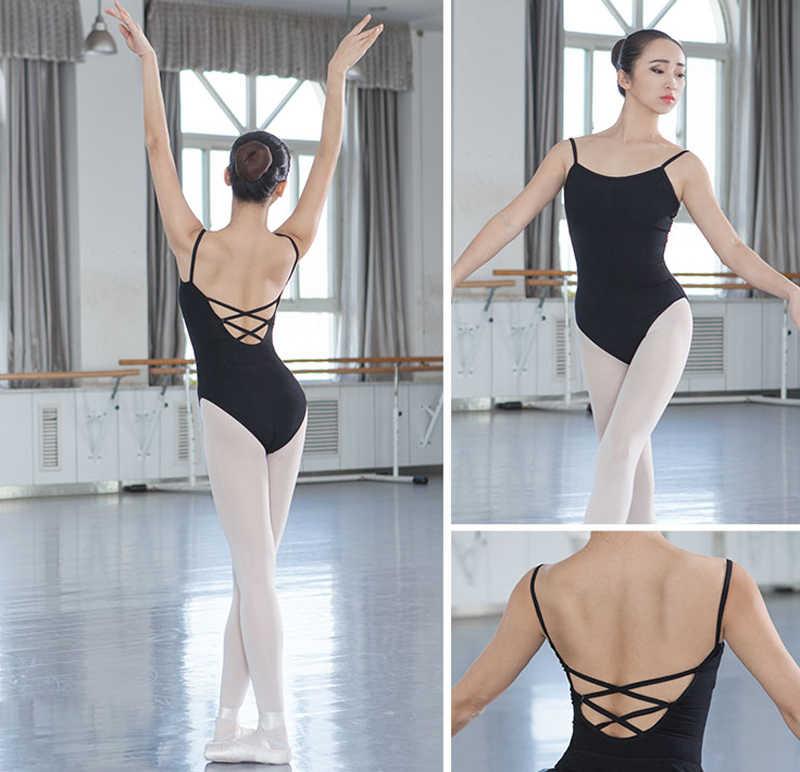 Балетное трико для Для женщин высокое качество плотный хлопок Танцы трико для взрослых ежедневно танец жилет балет Практика одежда гимнастика