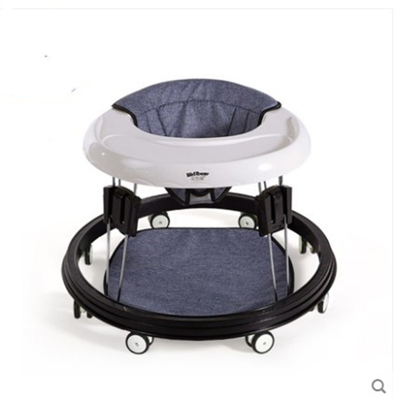 Baby Walker 6/7-18 Months Multi - Functional Anti - O Leg Roll Boys And Girls Baby Children Hand Push Can Sit