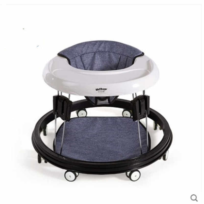 Baby walker 6/7-18 เดือน multi - functional anti - o ขา roll boys เด็กเด็ก push สามารถนั่ง