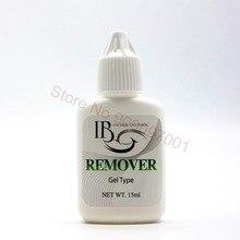 Coreia do IB 15g Profissional Cola Para Cílios Removedor Desligante Adesiva Tipo Gel Removedores de Maquiagem Cílios Extension Ferramenta 10 peças/lote