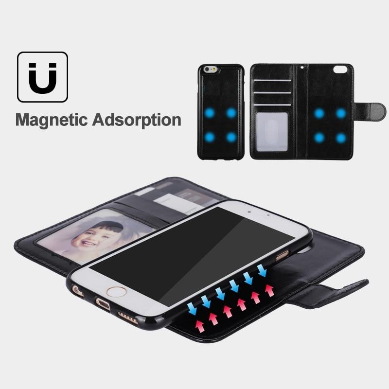 LANCASE Untuk iPhone 6 Kasus Kulit 2 in 1 Magnetic Dilepas Flip Cover - Aksesori dan suku cadang ponsel - Foto 3