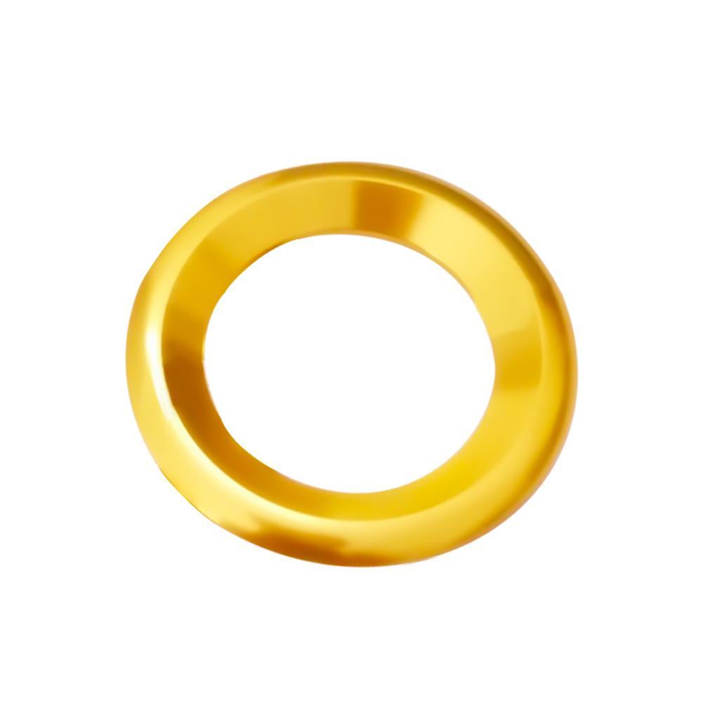 Украшения круг планки громкий динамик анодированный алюминиевый двери автомобиля аудио кольца динамиков планки для Honda Civic - Название цвета: Gold