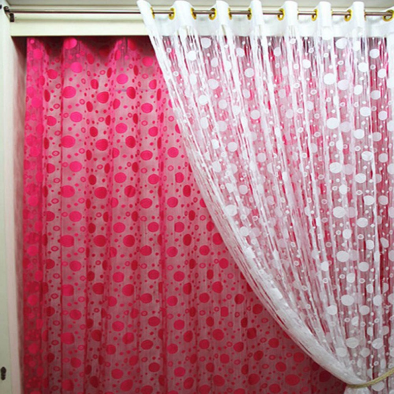 NEW High Quality 95*200CM Bubble Circle Curtains For Room Window Door Decor Divider Drape Curtains