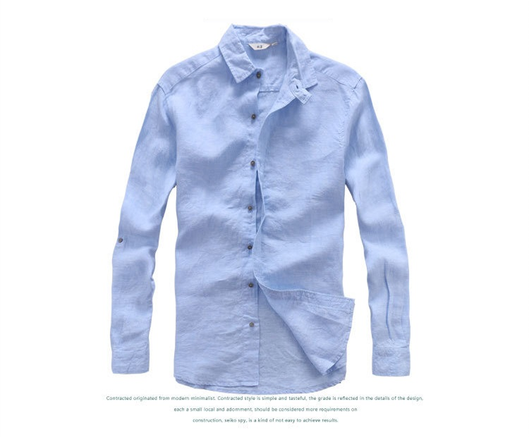 584c8430870d Italy designer pure linen shirts men summer long sleeve men shirt solid  casual shirts man classic brand shirt mens flax chemise
