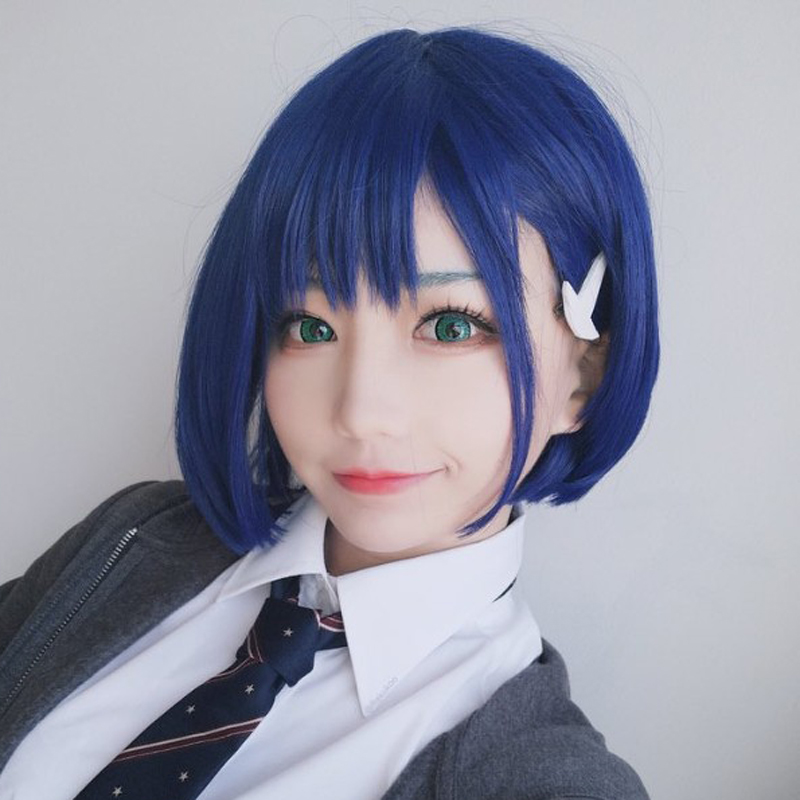 DARLING In The FRANXX 015 Ichigo Code 015 Short Blue Styled Heat Resistant Synthetic Hair Cosplay Costume Wig