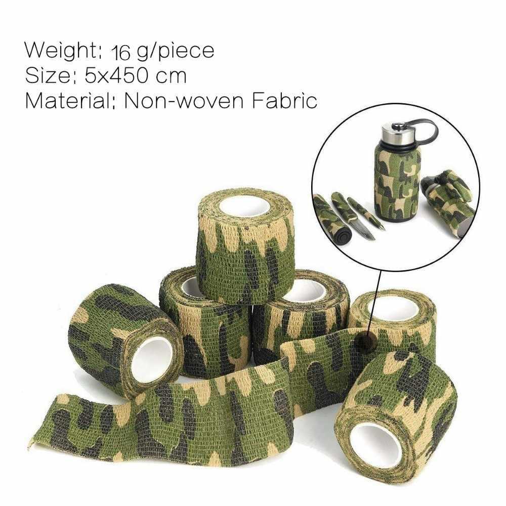 Самоклеящаяся камуфляжная эластичная лента для кемпинга и пеших прогулок, камуфляжная пленка, инструменты для активного отдыха, военные тактические повязки для выживания, 5*450 см