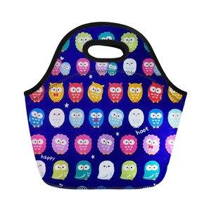 Bolsas para el almuerzo con estampado Animal de neopreno de THIKIN, bolsas nevera de dibujos animados, bolso para mujer, paquete aislante para chico y estudiante, bolsas portátiles para comida