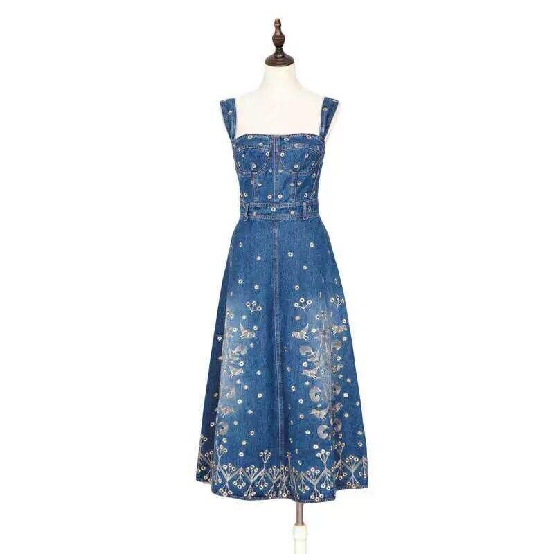 Primavera Diseño Estilo Europeo Calidad Marca Alta De Moda Las Lujo Mujeres D0419 Vestido La 2019 Fiesta UYxqRgw