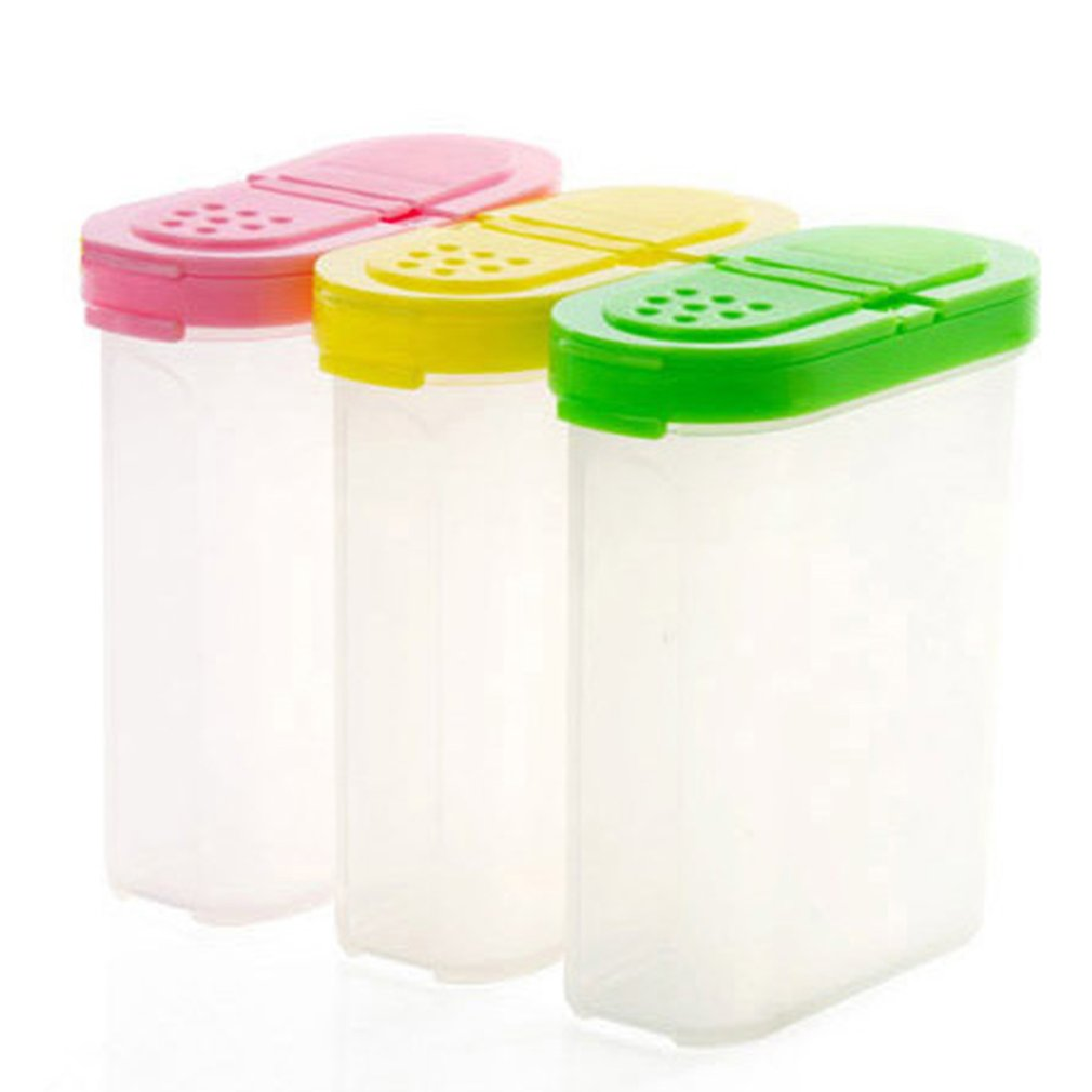 Container-Box Spice-Jars Kitchen-Gadgets Plastic Case Sugar Condiment For Seasoning Salt
