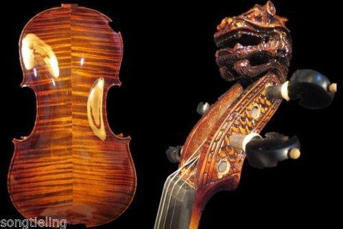 Strad style SONG Brand Great Maestro carving scroll 4/4 violin #8560 image