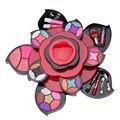 Estilo Fashion Flower Maquillaje Kits Set de Regalo Kit de Sombra de Ojos Fundación Colorete En Polvo brillo de Labios