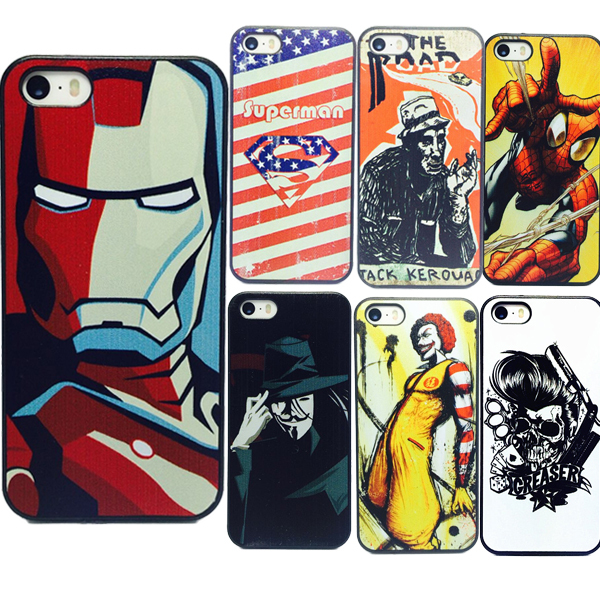 best sneakers 5267a b09d7 US $4.04 |Fundas 7 Style Case For Iphone 5 Phone Cases Iron Man Unique  Custom Printed Hard Plastic Mobile Case Cover For Iphone 5 5S on  Aliexpress.com ...