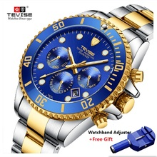 Hot TEVISE Watch Men Luxury Automatic Mechanical Mens Wristwatch Stainless Steel Waterproof Military Watch relogio masculino купить недорого в Москве
