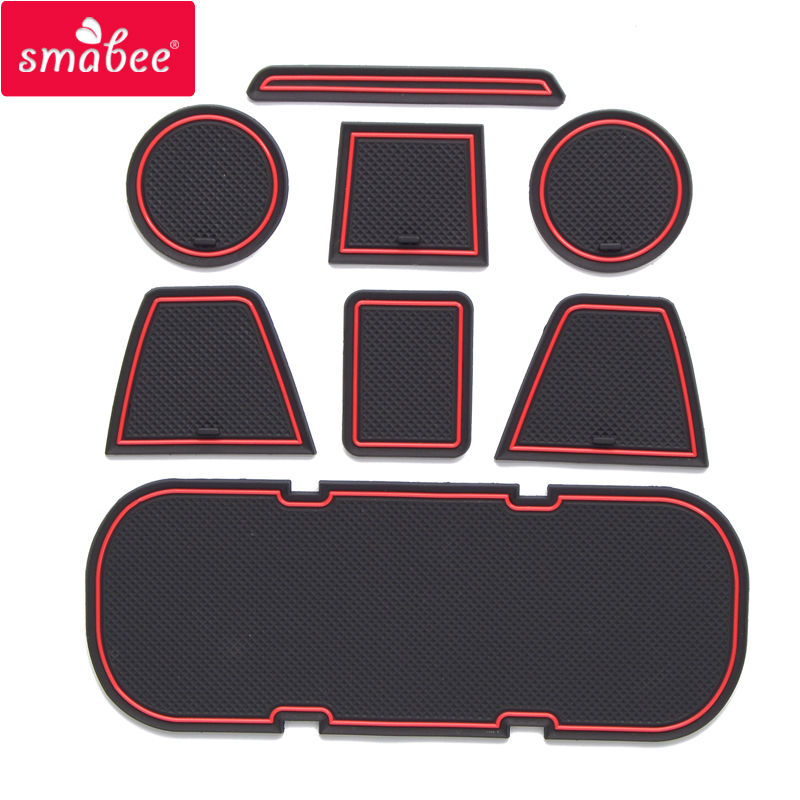 smabee Gate slot pad For Toyota 86/subar BRZ Accessories,3D Rubber Car Mat red/blue/white 8PCS