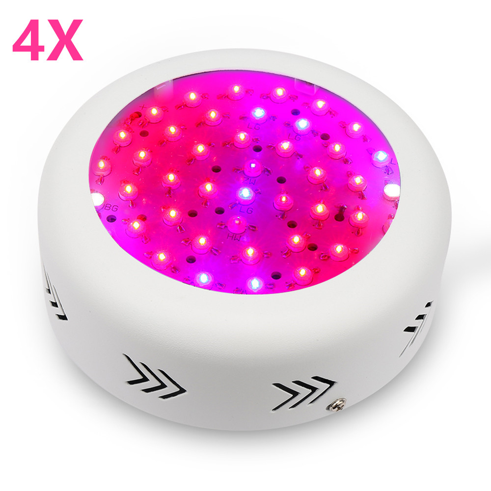 4PCS Full Spectrum UFO 150W LED Grow Light For Indoor Hydroponics Flower Plants Vegetable Grow Tent Growth Lamp Wholesale