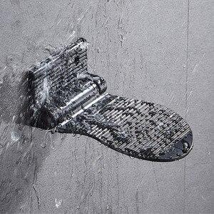Image 4 - LIUYUE poggiapiedi doccia nero/argento in lega di alluminio a parete pedale ausiliario poggiapiedi supporto Hardware semplice