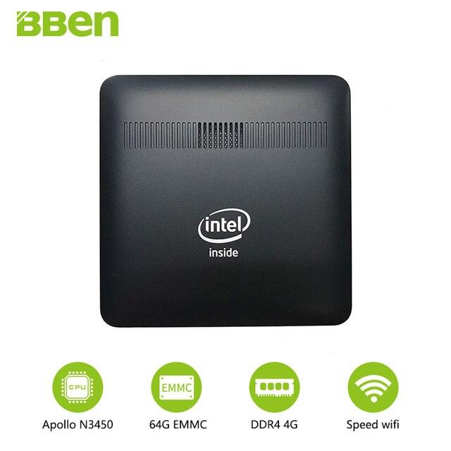 Bben MN16A Stick PC 4G RAM 64G EMMC 32/64/128256/G SSD  Windows 10 Intel Celeron N345 USB3.0 VGA LAN Port WiFi BT4.0 Mini PC