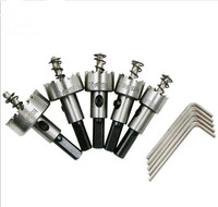 New Aluminum Hole Opener 10pcs Set Carbide Tip HSS Drills Bit Hole Saw Set Stainless Steel