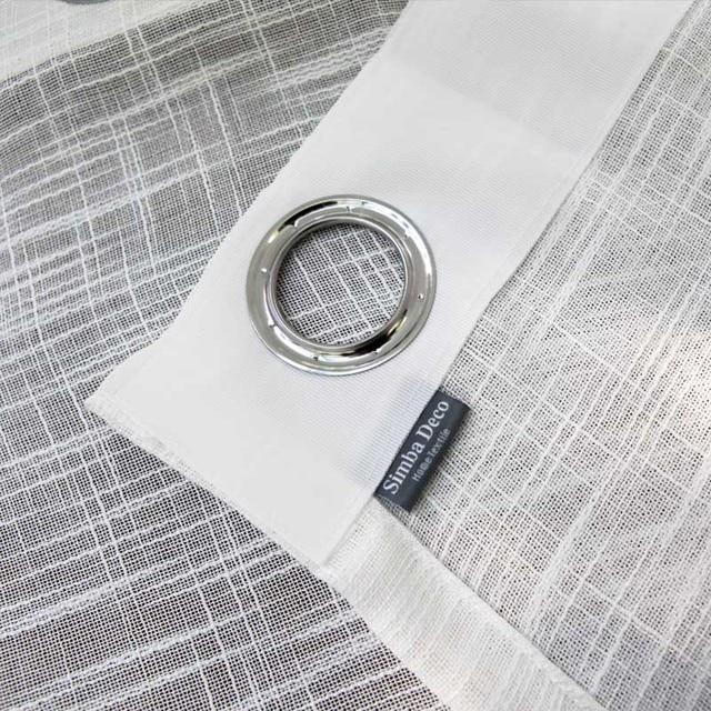 Bianco Tulle Tende per il Salone Soild Croce In Cotone e Lino Tessuto Puro Camera Da Letto Decorazione Voile Complementi Arredo per le finestre Tende