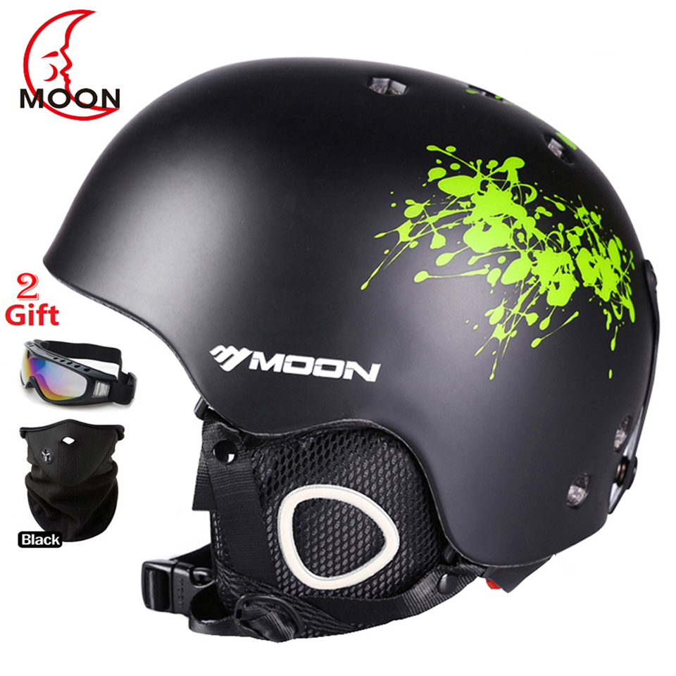 MOON Professional Ski Helmet High Quality Women Men Skiing Helmet Ultralight 368g Snowboard Skateboard Helmet 52