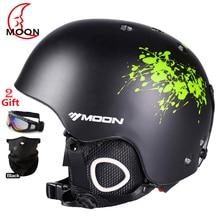 MOON Professional Ski Helmet High Quality Women Men Skiing Helmet Ultralight Ski Snowboard Skateboard Helmet 52-64CM