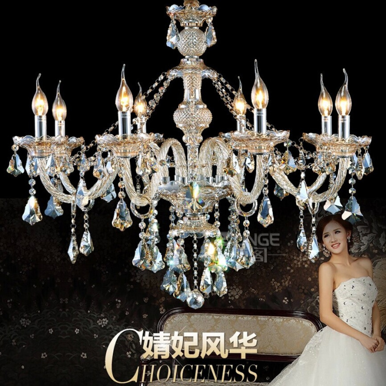 2016 New Modern Crystal Chandelier Cognac Lamparas de Techo Chandelier Crystal Lustre for Home Decor 100% K9 Crystal Balls