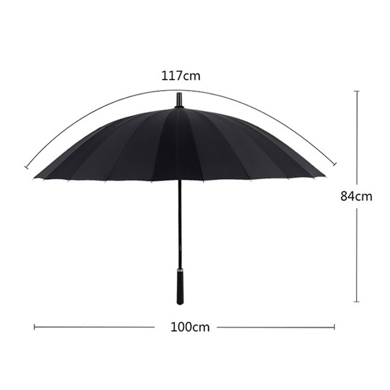 Image 2 - 24K Large Women umbrella Rain Women Windproof male Walking Stick Umbrellas Men Leather Golf Sun Paraguas Colorful Parasol Cane-in Umbrellas from Home & Garden
