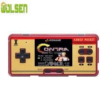 WOLSEN 3.0 cal Retro przenośny rodzinny kieszonkowy odtwarzacz gier RS 20A 8 Bit Mini konsola gra wideo consoleBuilt w 638 gry najlepszy prezent