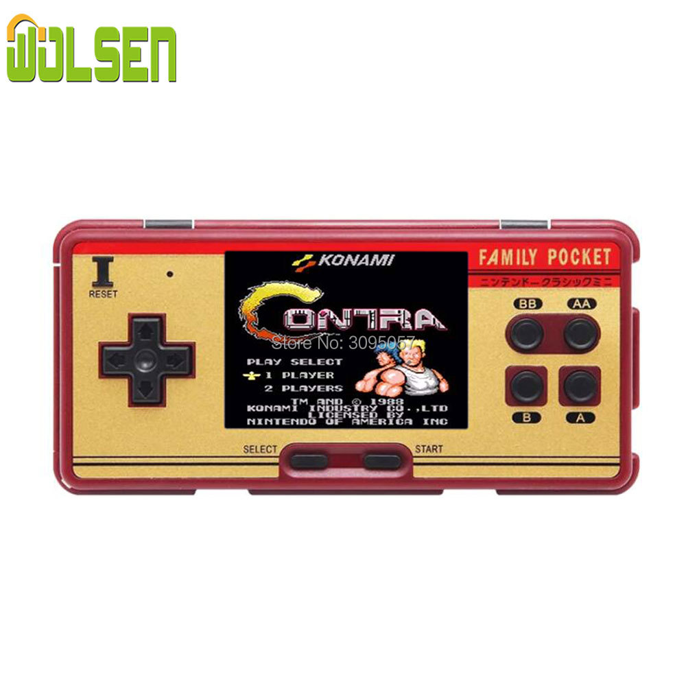 WOLSEN 3.0 inch Retro Portable Family Pocket Game Player RS-20A 8 Bit Mini Console Video game consoleBuilt in 638 Game Best Gift
